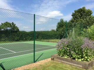 Newly resurfaced all weather tennis court