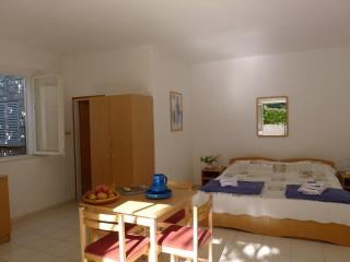 Studio: bedroom and dining table