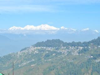 Actual View from Terrace. View is dependant on Cloud cover. Himalayas usually visible in Morning