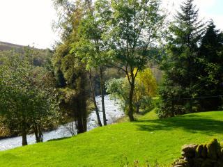 The garden and River Isla