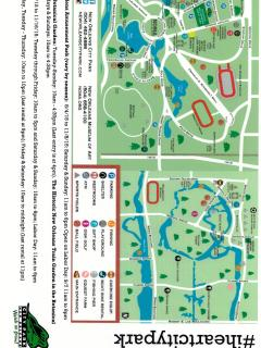 City Park map - so much to do and enjoy just across the street from the house!