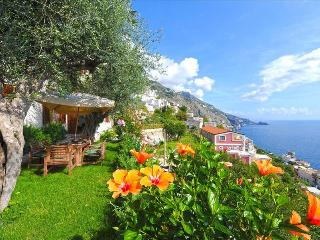 Landscaped garden with fascinating views of the sea.  Luxury Villa, Praiano