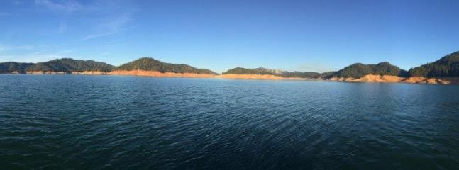 Shasta Lake after 4 years of drought.  August 2015.  In main channel.  Lots of water.