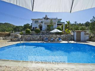 3BR villa, hillside location, private pool, wifi, Argaka