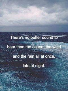 you will love the sound of the ocean in our home....
