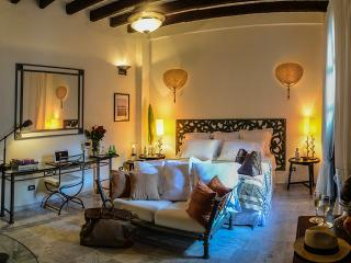 Cathedral view suite in Colonial Mansion Cartagena