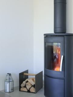 ... with a cosy wood burner for chillier nights