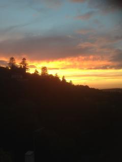 Vista do terraço, por do sol