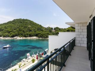Apartments Posta - Comfort One-Bedroom Apartment with Balcony and Sea View - Apartman 8, Saplunara