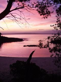 Honey Moon Bay at sun set
