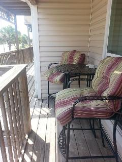 Seating outside living room.
