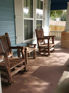 Front porch - wraps around to side