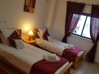 gorgeous twin  room with comfy beds with plenty of room and soft bedside rugs