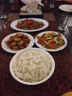 Indonesian food prepared by our staff