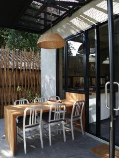 Outdoor - dining table on terrace