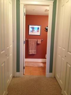 Master, closets, and full bathroom