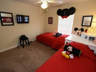 Fun Mickey Twin Room w/Wall Mounted Flat Screen TV  (Upstairs)