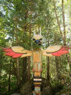 One of the Totem Poles at the Ranch