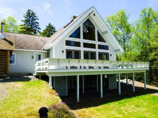 #102 Luxurious new chalet-style home on Moosehead Lake with large stone, Greenville