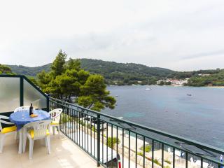 Apartments Posta - Studio with Balcony and Sea View - Apartman 2, Saplunara