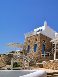 The exterior of the villa