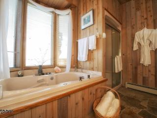 Jet tub in bathroom