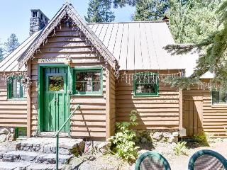 Dog-friendly, family-friendly log cabin w/fairytale interior.