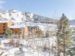 Affordable & cozy slopeside condo close to the lifts - includes shared hot tub!
