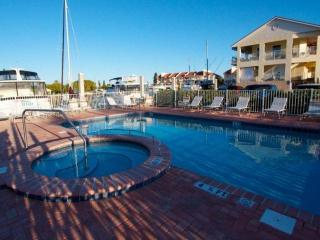 Heated pool and hot tub at the marina