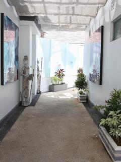 Hallway to villa
