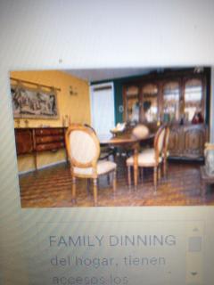 Comedor familiar con acceso para los huéspedes, pero tienen también su privado en su apartamento.