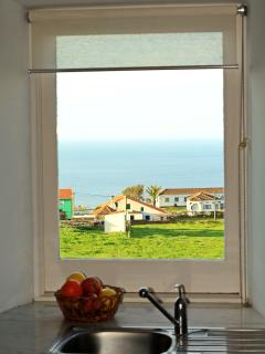 Talha house - sea view from the kitchen window
