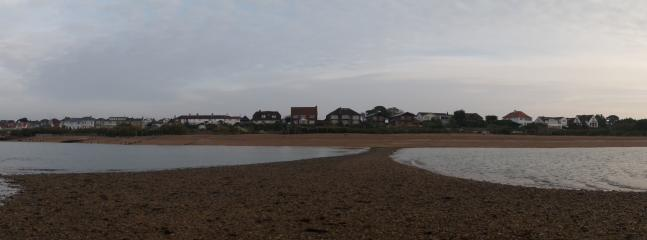 panoramic view of Cowes View at low tide early morning