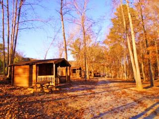 Broken Eagle Recreation Camping cabin #6 near barn, Vandiver