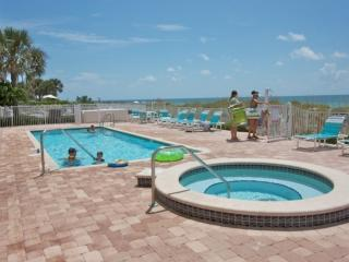 Communal Heated Pool/Hot Tub Overlooking the Crystal Blue Waters of The Gulf