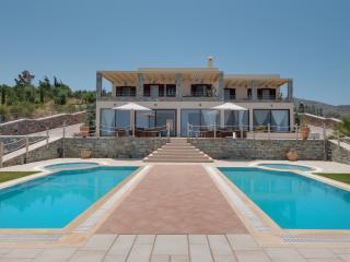 Blick auf das Meer bei Anemomylos Villa für bis zu 18 Personen, Agia Pelagia