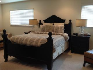 Huge master bedroom suite with walk in closet, ensuite and large flat screen with DVD player