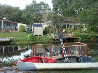 Waterfront - canal that leads to Old Florida serene Weeki Wachee River 1 canoe 2 kayaks included
