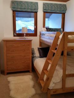Bedroom 3 with triple bunk
