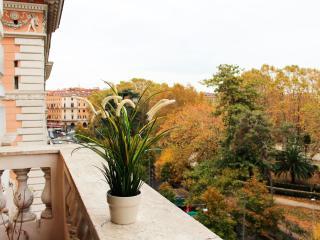 Vista dal balcone sulla piazza