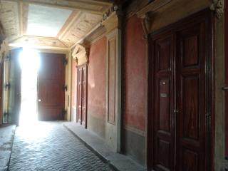 The house entrance with stunning affresco!