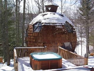 GEODESIC DOME ON 40 ACRES W/HOT TUB. REMAINING APRIL DATES $130/NIGHT!