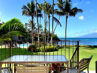 Romantic! Oceanfront Air Conditioned Ground Floor Honokeana Cove Condo #114