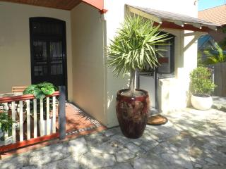 private entrance and patio with BBQ
