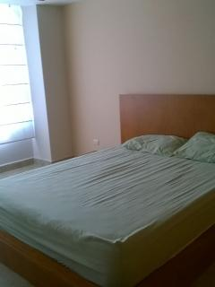 Full size beds in bedrooms