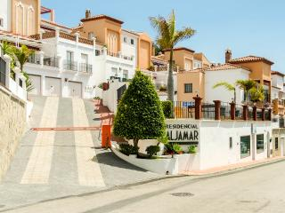 Edificio Aljamar entrance - apartment is to  left of the ramp accessed by garage or walkway entrance