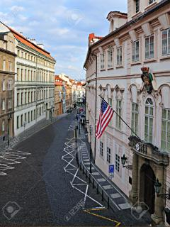 One the same street as The American and German Embassy