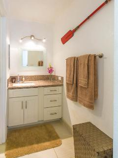 Fully renovated bathroom and vanity