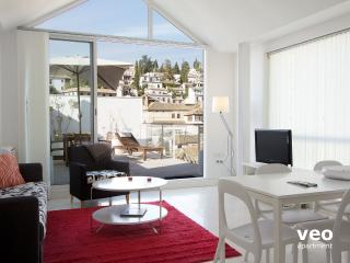Plaza Nueva Loft 6. 2 bedrooms for 6, terrace, Granada