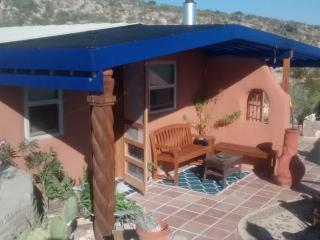 Blue House, Sustainable Stay in Papercrete, Terlingua